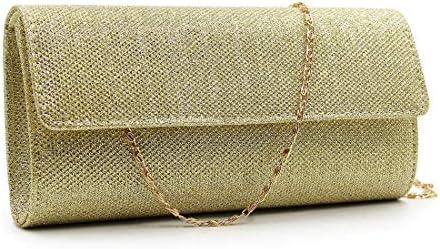 LKJASDHL ディナーバッグハンドバッグショルダーバッグ多色光沢のあるイブニングバッグ斜めパッケージレディーバッグチェーンスモールスクエアバッグバンケットハンドバッグカジュアルフォーマルな日常バッグ (色 : 1)