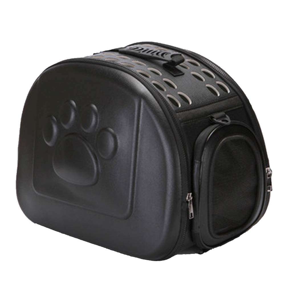 Black Pet Carrier Backpack,Foldable and Washable Travel Outing Pet Bag,Multiple Air Vents Waterproof Lightweight Pet Handbag for Cats Small Dogs & Petite Animals,Designed for Walking & Outdoor Use
