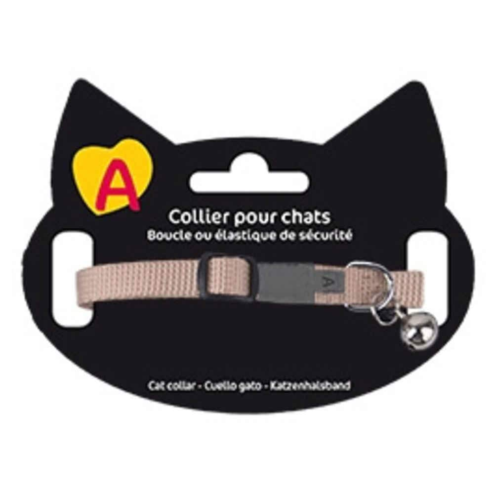 Animalis Collier Basic pour Chat Beige