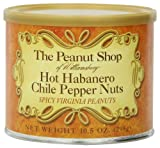 #6: The Peanut Shop of Williamsburg Hot Habanero Chile Pepper Nuts, 10.5-Ounce Tin