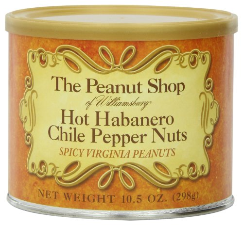 The Peanut Shop of Williamsburg Hot Habanero Chile Pepper Nuts, 10.5-Ounce - Specialty Nuts