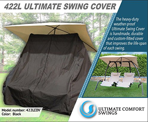 - Ultimate Comfort 422L Custom Cover - Made for The Sunset Swings 422L Dual Lounge Swing