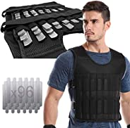 Adjustable Weighted Vest 44LB Workout Weight Vest Training Fitness Weighted Jacket for man woman (Included 96