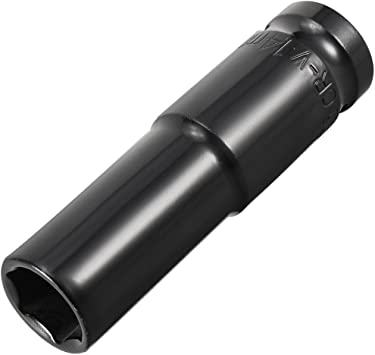 3//4-Inch Drive Shallow Impact Socket Cr-Mo 6-Point Metric 24mm 78mm Length