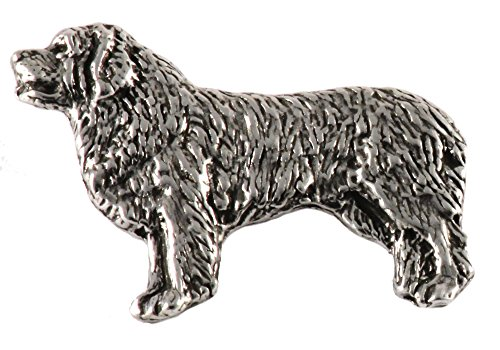 Newfoundland Dog Pewter Lapel Pin, Brooch, Jewelry, D426F