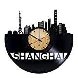 new years garage magnets - Shanghai Record Wall Clock - Get unique of living room wall decor - Gift ideas for girls and boys – Chinese City Unique Art Design