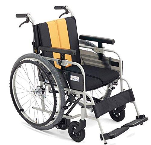 【非課税】ミキ 自走型 車いす ノンバックブレーキ 低座面 MBY-41B イエロー S4#75 40 B01FBH2G9E