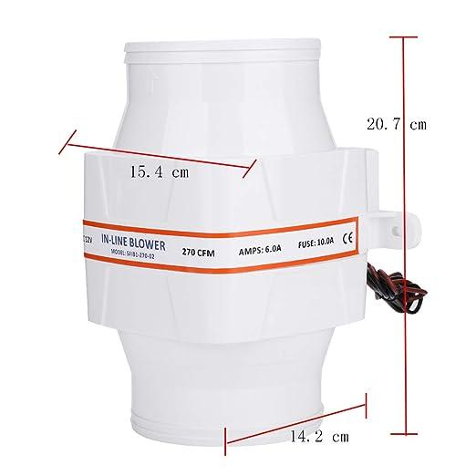 cuarto de ba/ño tubo silencioso Ventilador de salida de aire 100 mm de di/ámetro color blanco potente ventilador con sistema de salida de aire fuerte para habitaciones cocina