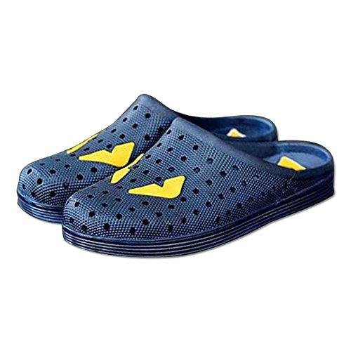 DULEE - Zapatillas de estar por casa de goma eva para hombre Azul