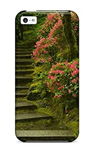Hot PmhLuck7520RZlZo Japanese Garden Washington Park Tpu Case Cover Compatible With Iphone 5c