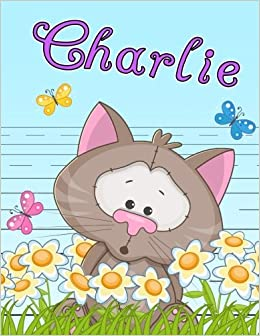 charlie personalized book with child s name primary writing tablet