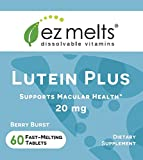 EZ Melts Lutein Plus with Zeaxanthin and Zinc, 20