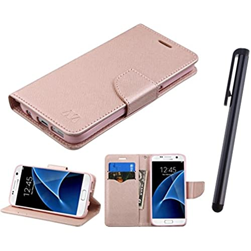 Samsung Galaxy S7 G930 Case, Fincibo (TM) Samsung Galaxy S7 G930 MyJacket Wallet With Card Slot Pouch Protector Sales