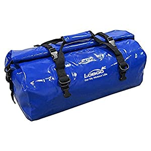 Loboo 66L Waterproof Bag Expedition Dry Duffel Bag Motorcycle Luggage Travel Bag Travel,Sports, Cycling,Hiking,Camping (Blue)