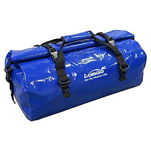 Motorcycle Duffle Bags - Loboo 66L Waterproof Bag Expedition Dry Duffel Bag Motorcycle Luggage Travel Bag Travel,Sports, Cycling,Hiking,Camping (Blue)