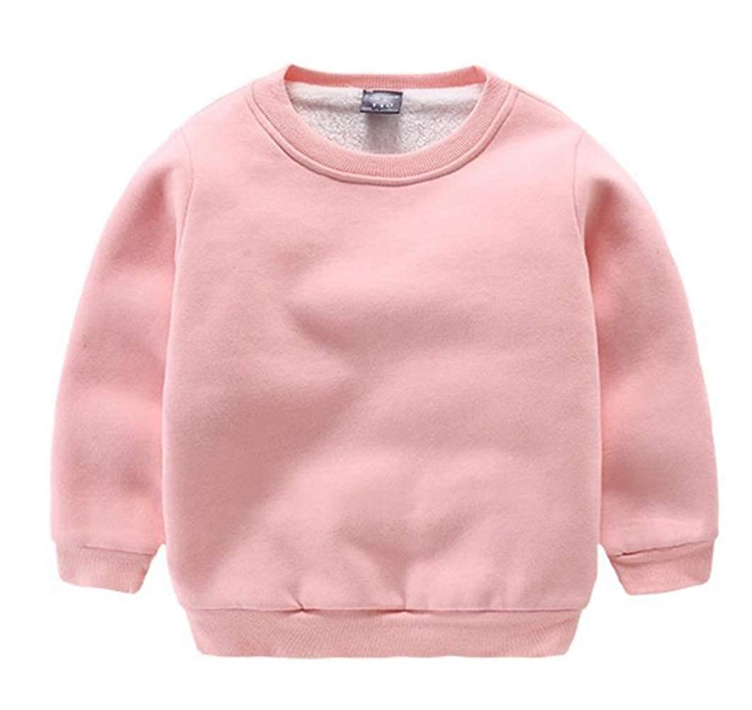 CuteOn Baby Boys Girls Crewneck Cotton Long Sleeve Winter Fleeced-Lined Sweatershirt