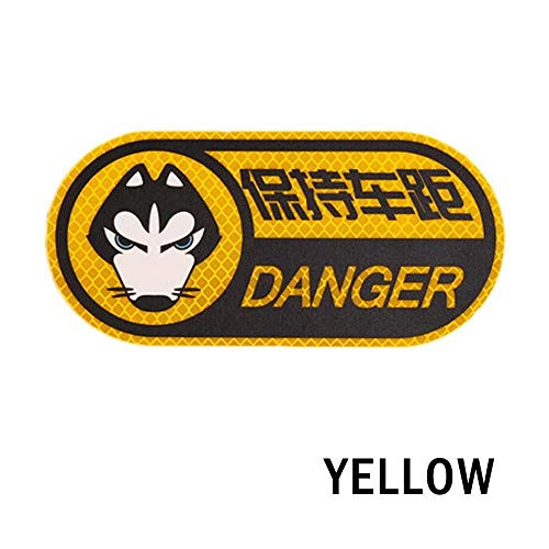 Auto Car Reflective Danger Sign Warning Mark Strip Tape Keep The Distance Car Rear Night Protector Car Styling Accessories Yellow
