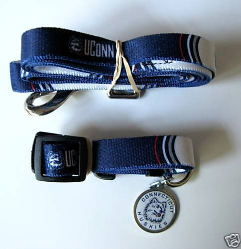 Hunter University of Connecticut Pet Combo Set (Collar, Lead, ID Tag), X-Small