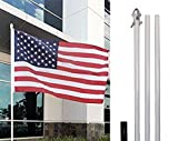 4Less 10ft Aluminum Outdoor Flag Pole KIT Ground Spike Shock Absorber Review