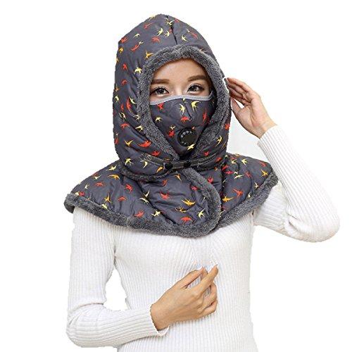 SOOCO Mens Winter Warm Bomber Hat Máscara A Prueba De Viento Winter Ear Flap Unisex Ushanka Para El Esquí De Patinaje Hiking Gray