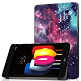 LG G Pad F2 8.0 Tablet Case, DETUOSI Lightweight Leather Slim Stand Hard Shell Case Protective Cover for LG G Pad F2 8.0 Sprint Model LK460 8-Inch Android Tablet 2017 Release