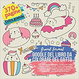 Amazon Com Doodle Del Libro Da Colorare Del Gatto Grand