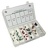 NEF Battery Terminal Solder Slug Assortment Kit, 50 Pieces with Plastic Storage Organizer
