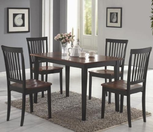 Coaster 5 piece Dining Chairs Cappuccino product image