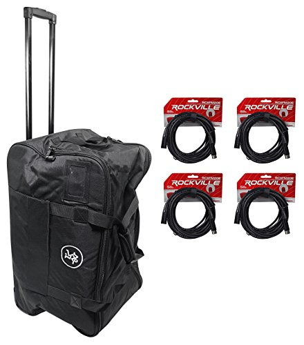 Mackie Rolling Speaker Bag Carry Case for Thump12A & Thump12BST+(4) XLR Cables by Mack