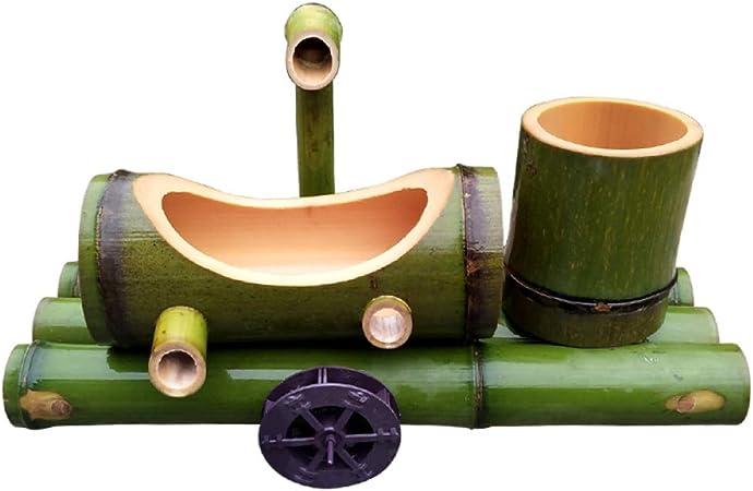 QXTT Fuente De Bambu Exterior Fuente De Agua con Caña De Bambú para Jardín Decoración del Hogar Cascada Jardín Japonés Al Aire Libre Característica Estatuas Decorativas,35cm: Amazon.es: Hogar
