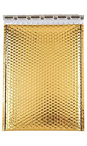 Large Gold Glamour Bubble Mailers Pack of 100 by STORE001