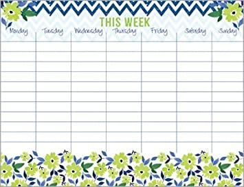 weakly calendar