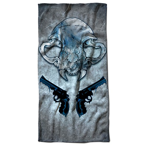 Vampire Kiss Scary Horror Pistol Gun Beach Towel 28