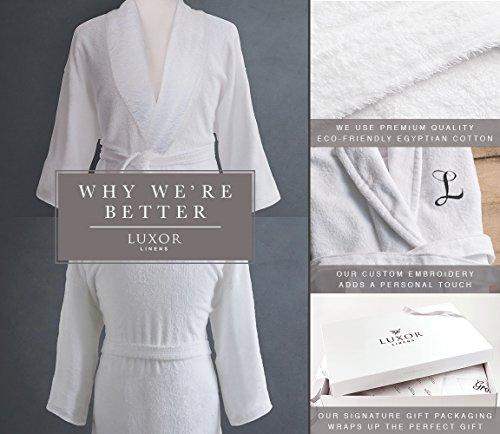 0f459bce1f Luxor Linens Couple s Terry Cloth Bathrobe Egyptian Cotton Unisex One Size  Luxurious Soft Plush Elegant