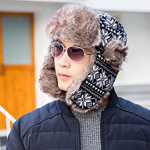 Bombardero Warm Mask Unisex Mens Trooper Flap Ski Winter Winter SombrerosHat Gray Ear Windproof Ear Flap Hat Unisex Hunting Bx6YXq