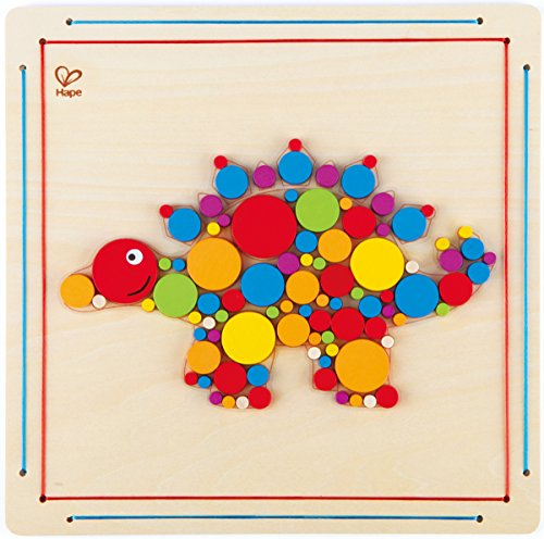 Hape Stegosaurus Wooden Mosaic Kid's Arts and Crafts Kit