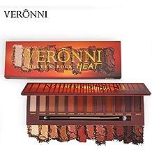 12 Colors Veronni Melton Rock HEAT Warm Color Eyeshadow Palette Makeup Eye Shadow Palette (12 color heat palette)