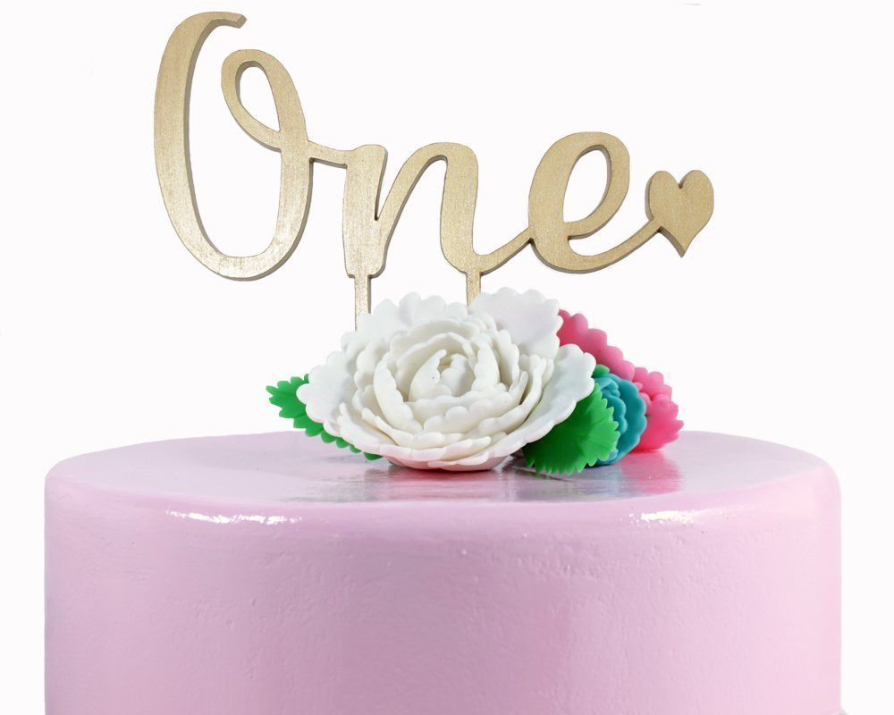 Sensational Amazon Com One Cake Topper 1St Birthday Cake Topper Party Funny Birthday Cards Online Alyptdamsfinfo