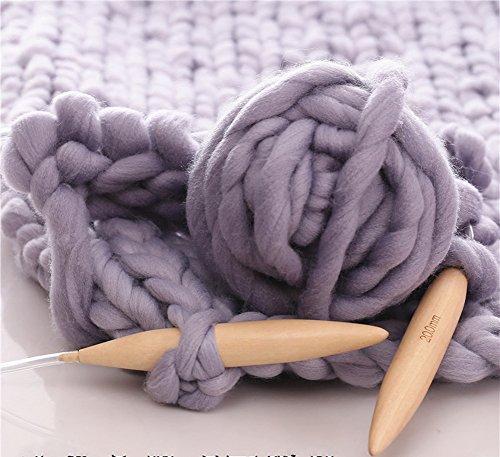 HomeModa Studio Merino Wool Super Chunky Yarn DIY Knitting Set, Wooden Knitting Circular Needle with Bulky Yarn (grey, 2lbs+Giant Knitting Needles) price tips cheap