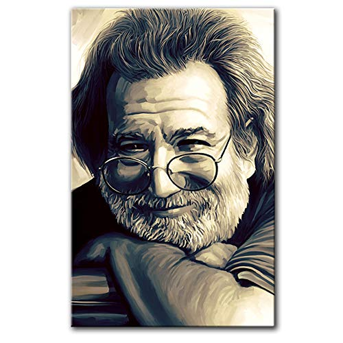 - JERRY GARCIA Original Artwork Artist Signed Canvas Art Print (Medium 26