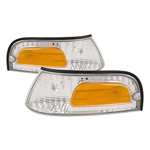 Headlights Depot Replacement for Ford Crown Victoria Corner Lights OE Style Replacement Driver/Passenger Pair New