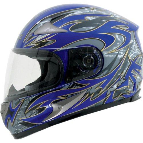AFX FX-90 Species Helmet , Gender: Mens/Unisex, Helmet Type: Full-face Helmets, Helmet Category: Street, Distinct Name: Blue Species, Primary Color: Blue, Size: XS 0101-6304