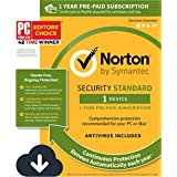 Norton Security Standard – 1 Device – 1 Year Pre-Paid Subscription – with Auto-Renewal [PC/Mac Download]