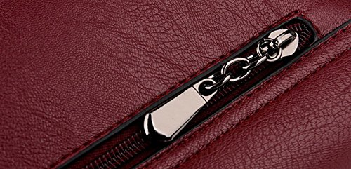 VogueZone009 CCAFBO181528 Sacs main Vineux à Rouge bandoulière à Boucle Travail d'embrayage Femme Violet Sacs fqrawvBf