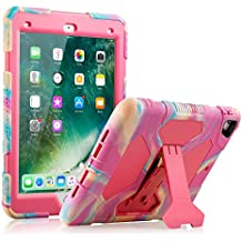 ACEGUARDER iPad Pro 9.7 Case Protective Kids Shockproof Impact Resistant Cases Covers with Screen Protector for Apple 9.7 Pro Case (2016)—Not Fit for 2017 Model New iPad 9.7 inch (PinkCamo/Rose)