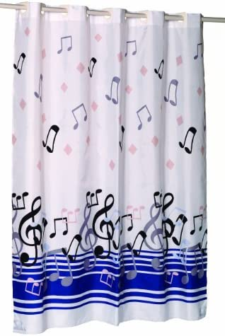"""EZ-ON® /""""Bristol/"""" Polyester Shower Curtain Carnation Home Extra Wide"""