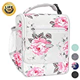 Amersun Insulated Lunch Box,Spacious Stylish Lunch Bag Cooler Tote Sturdy Snack Organizer with Multi-pocket for Kids Women Adult Girls School Office Picnic Work Bento Box(Spill-resistant,Rose Grey)