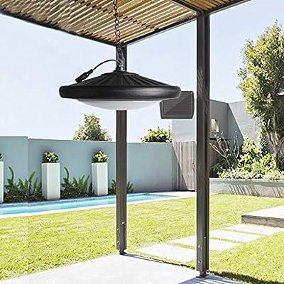Huhua - Lámpara de jardín con mando a distancia solar de 20 ledes, 360 grados: Amazon.es: Belleza