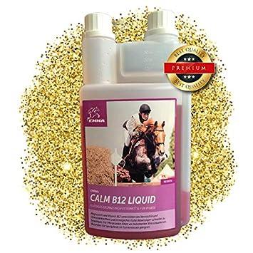 EMMA Magnesio Vitamina B12 para Caballos I Calma para Caballos I alimento líquido suplementario para los