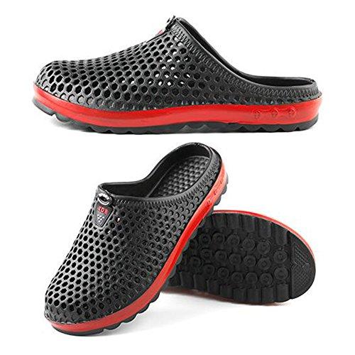 Eastlion Summer Male And Female EVA Couple Beach Shoes Leisure Non-slip Half Slippers Male Black riOBhQbcV